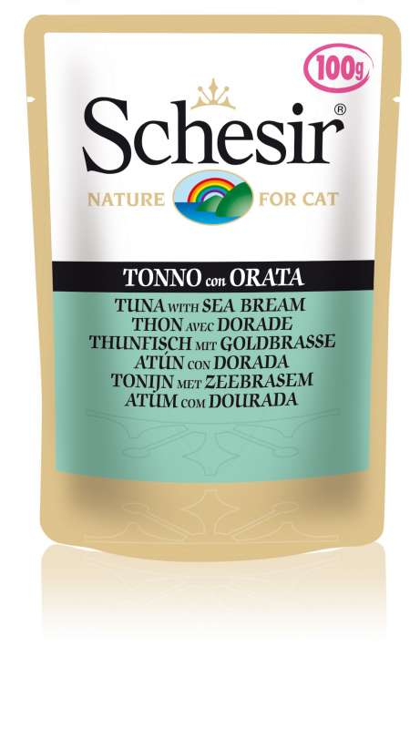 Schesir Cat Pouch Tuna with Sea Bream 8005852015792 kokemuksia
