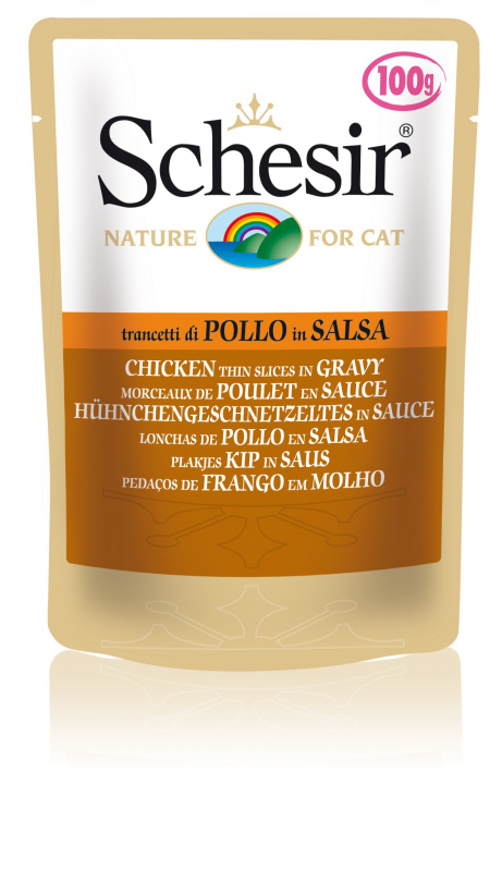 Schesir Cat Pouch Chicken tender morcels in gravy 100 g, 50 g buy online