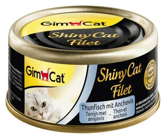 GimCat ShinyCat Filet Tonijn met Ansjovis 70 g 4002064412917