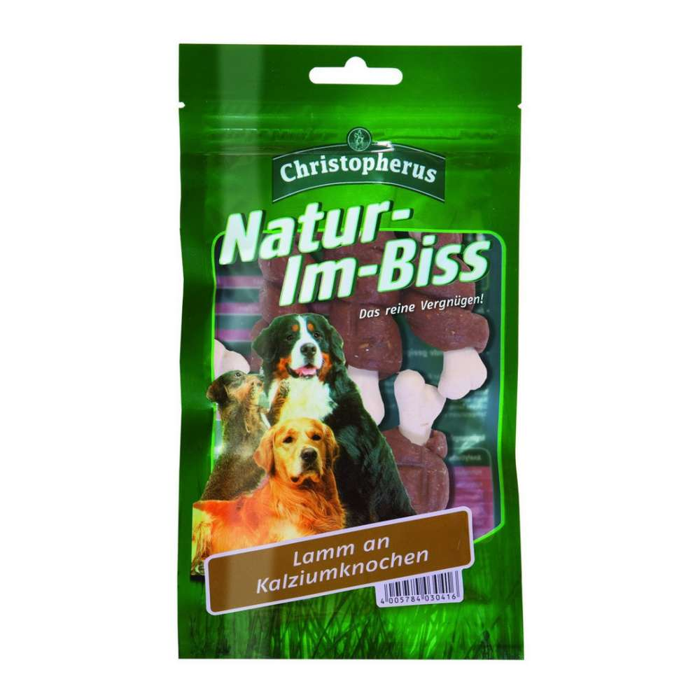 Christopherus Natur-im-Biss – Lamb on Calcium Bone 70 g osta edullisesti