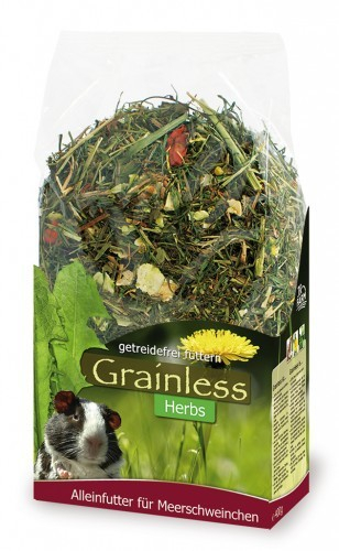 JR Farm Grainless Herbs Meerschweinchen 400 g 4024344101144 Erfahrungsberichte