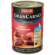 AnimondaGranCarno Original Junior Beef & Turkey Hearts 400 g