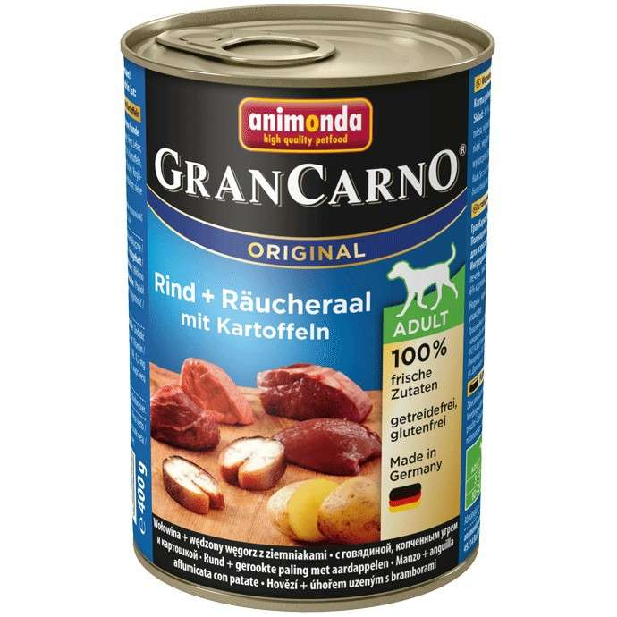 GranCarno Original Adult Beef & Smoked Eel with Potatoes from Animonda 800 g, 400 g buy online