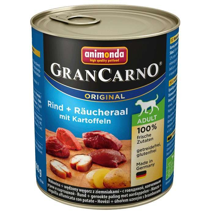 GranCarno Original Adult Beef & Smoked Eel with Potatoes 800 g