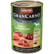 Animonda GranCarno Adult Beef + Turkey Heart 400 g, 800 g - Hundmat på burk