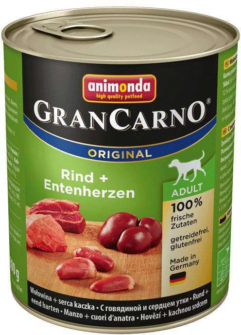 Animonda GranCarno Original Adult Beef with Turkey Heart 800 g 4017721827348
