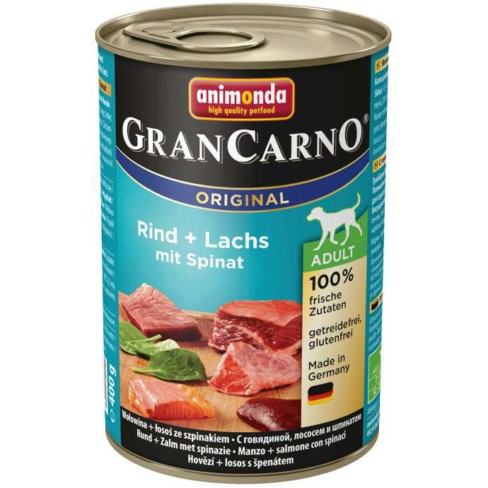 Animonda GranCarno Original Adult Beef & Salmon with Spinach 400 g 4017721827546