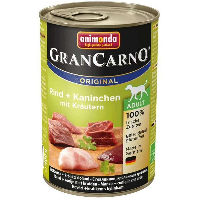 Animonda GranCarno Original Adult Beef & Rabbit with Herbs 400 g 4017721827348