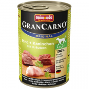 GranCarno Original Adult Beef & Rabbit with Herbs 400 g van Animonda