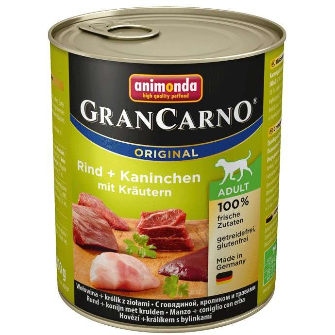 Animonda GranCarno Original Adult Beef & Rabbit with Herbs EAN: 4017721827553 reviews
