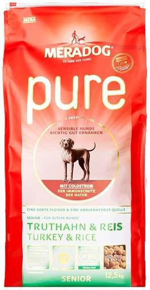 Meradog Pure Dinde & Riz Senior 12.5 kg, 4 kg