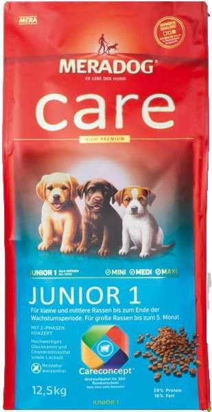 Meradog Junior 1 för liten /medelstorlek hundras 12.5 kg, 4 kg