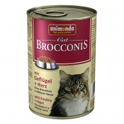 Brocconis Cat with Poultry & Hearts 400 g van Animonda