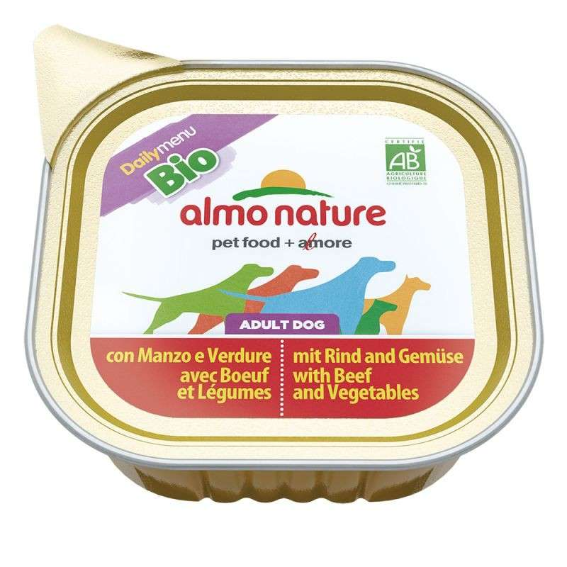 Almo Nature DailyMenu BIO Adult Dog Rund en Groeten 100 g