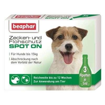 Beaphar Teken en Vlooien Spot-On voor kleine honden (tot 15kg) 3x1 ml  met korting aantrekkelijk en goedkoop kopen