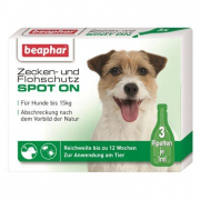 Beaphar Flea and Tick Spot On Solution for Small Dogs (up to 15 kg) 3x1 ml