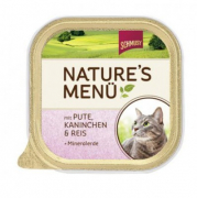 Schmusy Nature´s Menu Dinde & Lapin 100 g - Nourriture au lapin pour chats