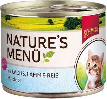 Schmusy Nature's Menu Kitten Salmon & Lamb Tray   order cheap