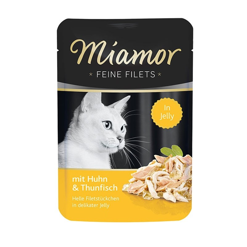 Miamor Fine Fileter Kylling & Tun 100 g test