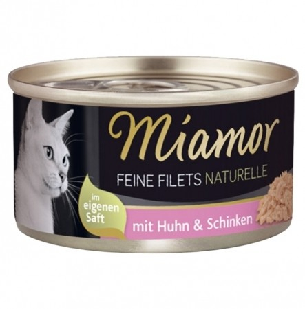 Miamor Feine Filets Naturelle in own juice chicken & ham 80 g