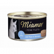 Miamor Feine Filets Dose heller Thunfisch & Shrimps 100 g