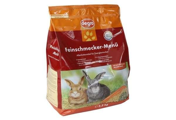 Degro Gourmet menu for dwarf rabbits 2.5 kg, 1 kg