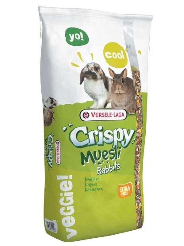 Versele Laga Crispy Muesli-Rabbits (Alimento Estándar para los Conejos) 20 kg