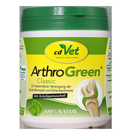 cdVet Arthro Green met Groenlipmossel voor Soepele Beweging en Gewrichten 165 g, 345 g, 70 g