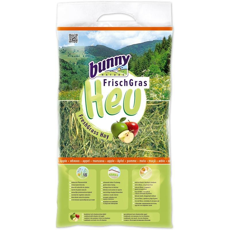 Bunny Nature FreshGrass Hay Apples 500 g  kjøp billig med rabatt