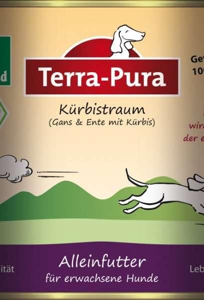 Terra Pura Bio-Kürbistraum met Gans en Eend voor honden 400 g