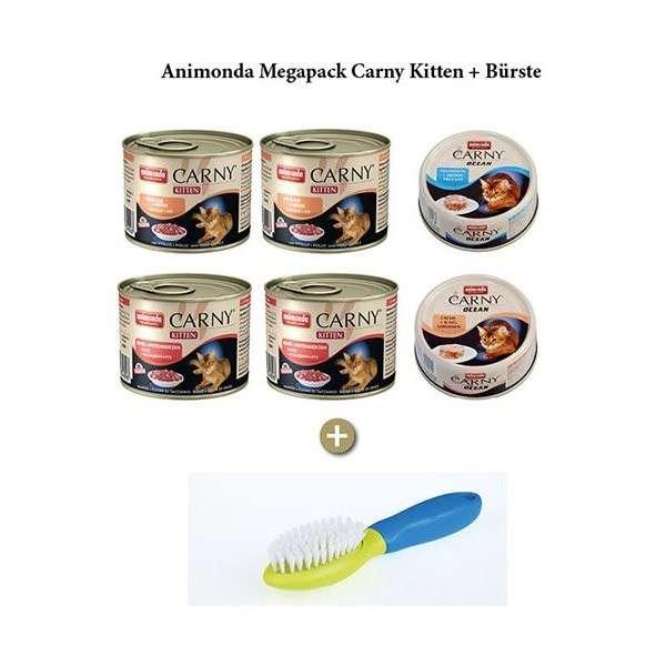 Animonda Carny Kitten Paquete + Cepillo Gratis 1.5 kg