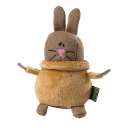 Dog toy T-Neck Rabbit, 14cm Rabbit