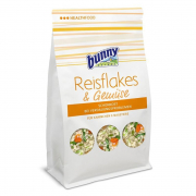 Rice flakes & vegetables 80 g for smådyr