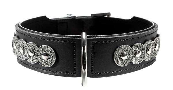 Hunter Halsband Basic Rom Zwart 36-41x3.3 cm  met korting aantrekkelijk en goedkoop kopen