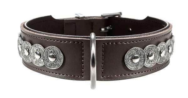 Hunter Halsband Basic Rom Donker-Bruin 36-41x3.3 cm  met korting aantrekkelijk en goedkoop kopen