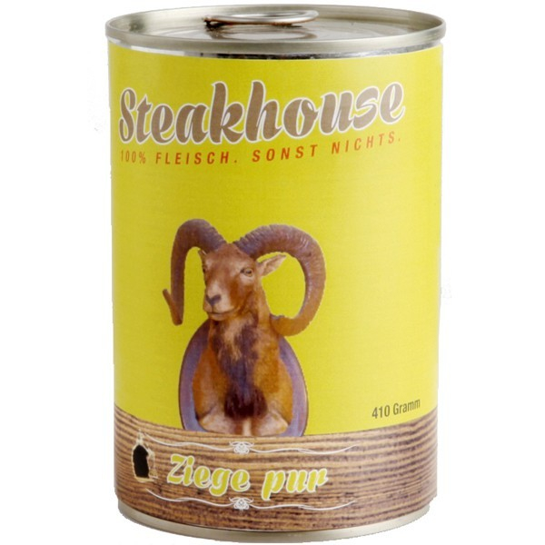 Fleischeslust Steakhouse Ziege Pur 410 g, 820 g bei Zoobio.at