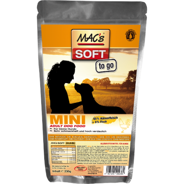 MAC's Soft Mini - Adult with Chicken 230 g