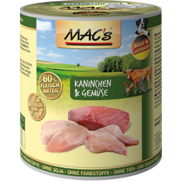 MAC's Dog - Rabbit & Vegetables canned 800 g