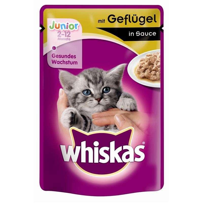 Whiskas Junior Fjærkre i saus 100 g kjøp billig med rabatt