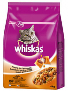 Whiskas Vendita di Adult con pollo 4 kg
