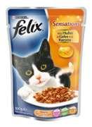 Sensations Chicken Jelly Carrot Purkkiruoka kissoille  merkiltä Felix. Säästä nyt jopa 80%!