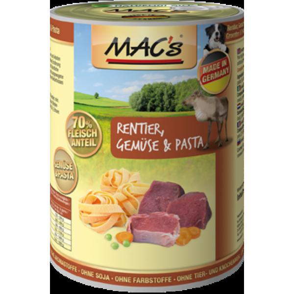 MAC's Dog - Renne, Légumes & Pâtes, en Boîte 400 g