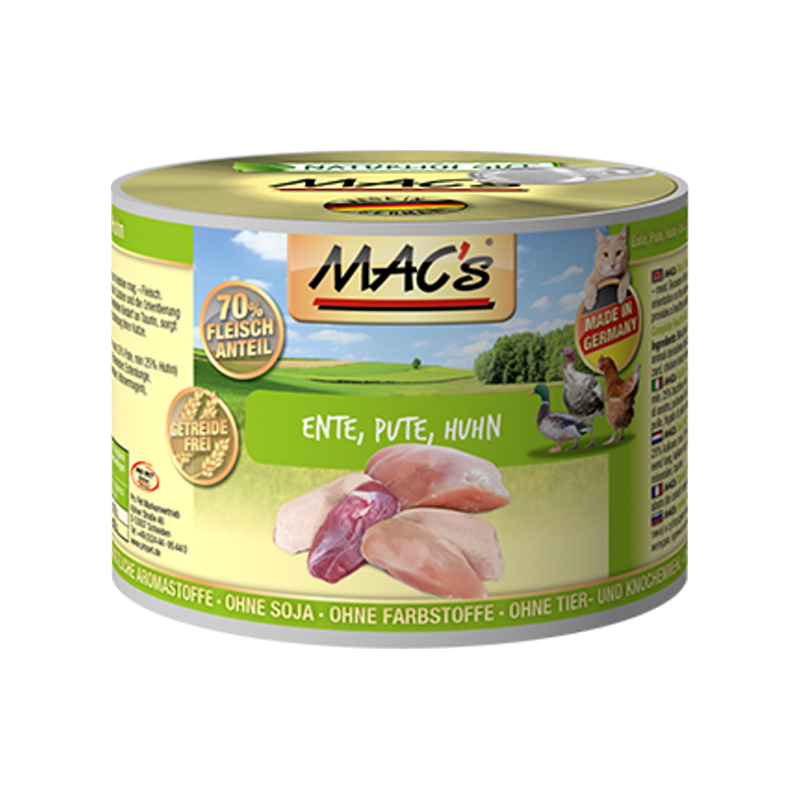 MAC's Cat - Duck, Turkey & Chicken 200 g