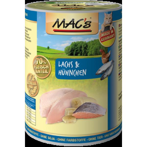 MAC's Lachs & Hühnchen 400 g 4027245008031 Erfahrungsberichte