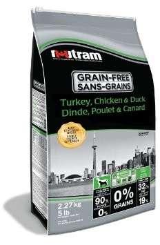 Nutram Grain Free Turkey, Chicken & Duck 2.27 kg, 11.34 kg, 3 kg