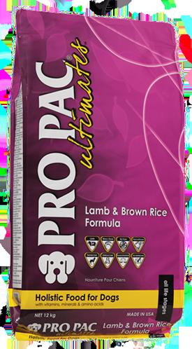 PRO PAC Ultimates Lam & Bruine Rijst 12 kg