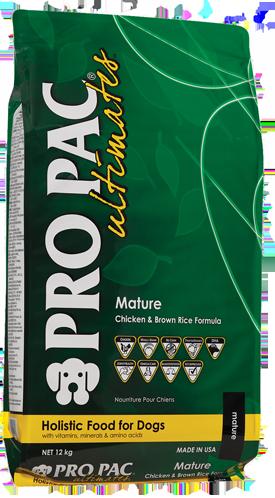 PRO PAC Ultimates Mature Kip & Bruine Rijst 2.50 kg, 12 kg
