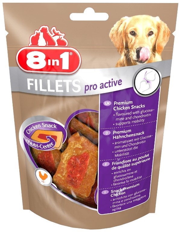 8in1 Fillets Pro Active 80 g kjøp billig med rabatt