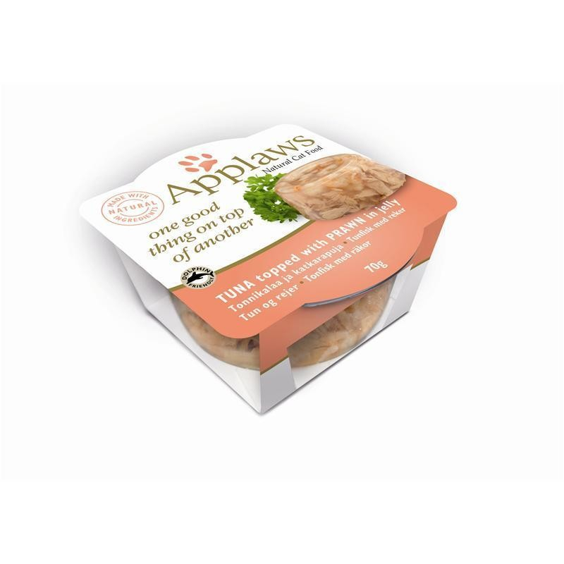 Applaws Cat Layers Tonijn & Garnalen 70 g 5060333436100
