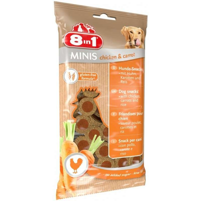 8in1 Minis Chicken & Carrot 100 g 4048422122722 ervaringen
